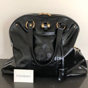 YSL large patent satchel